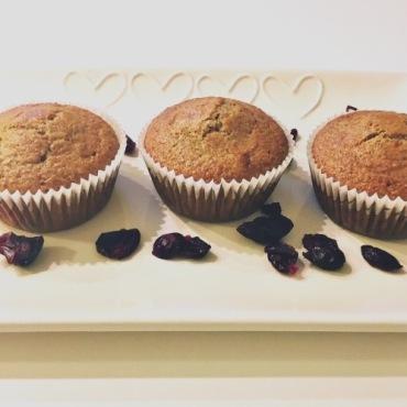 Muffin integrali ai frutti rossi