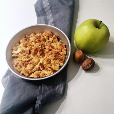 crumble di mele e noci